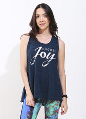 Choose Joy Tank (Navy)
