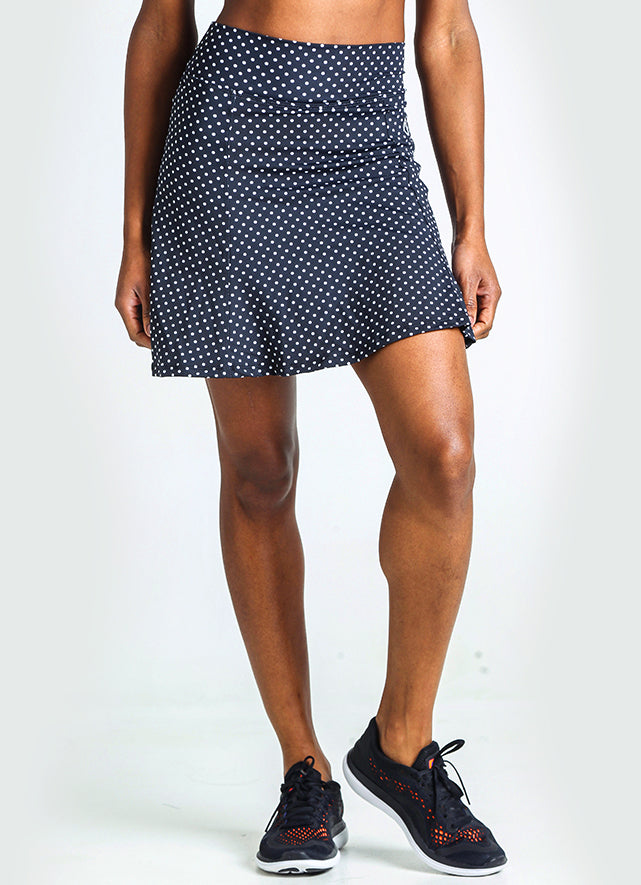 Ultimate Skirt (Black Polka Dot) - Petite
