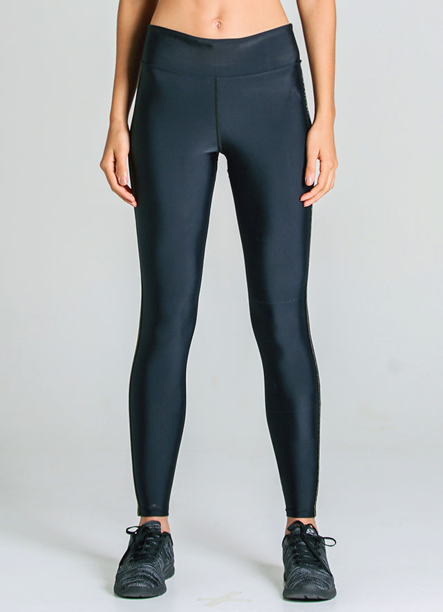 Vibe Legging (Black/Gold)