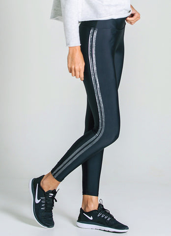 Vibe Legging (Black/Silver)