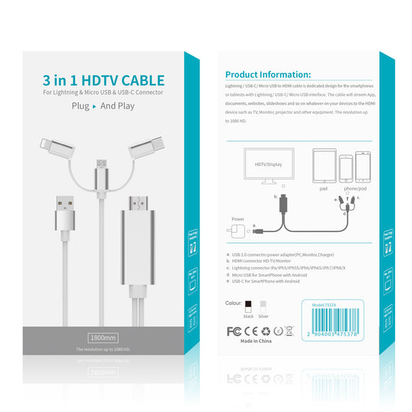 HDTV CABLE 3 IN 1 PLUG AND PLAY