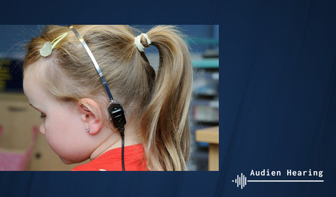 Image of child getting bone conduction testing