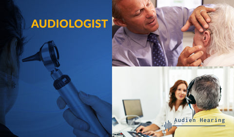 Image of audiologists performing exams