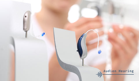 Image of behind the ear (BTE) hearing aids