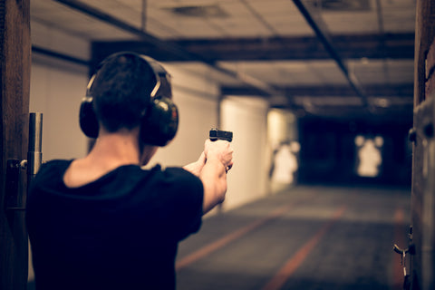 firing arms for target practicing