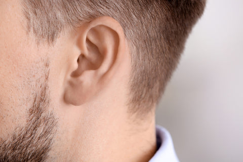 Man with hearing problem