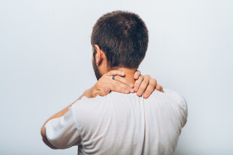 man in neck pain