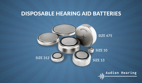 Disposable hearing aid batteries