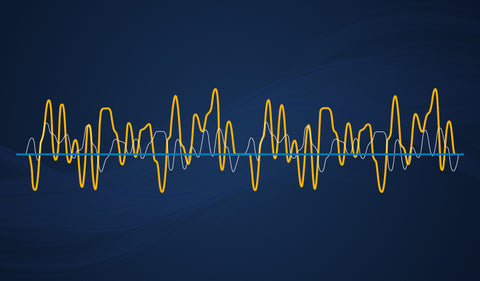 Simple image showing sound waves