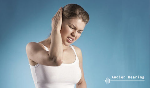 Image of individual with tinnitus pain