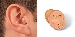 Graphic showing an in the canal (ITC) hearing aid