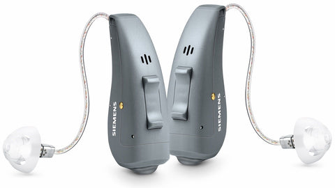 Graphic showing a receiver in canal (RIC) hearing aid