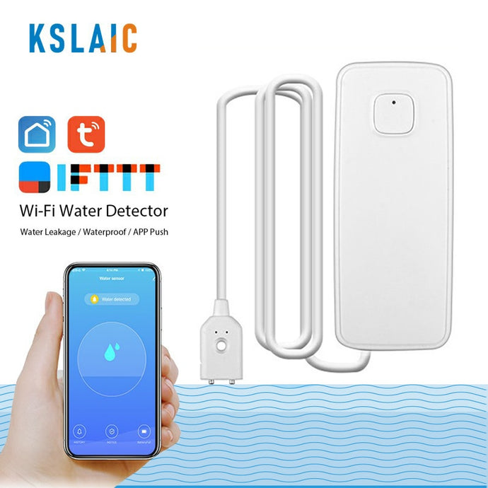 Wireless Wifi Water Leak Sensor Overflow Alarm