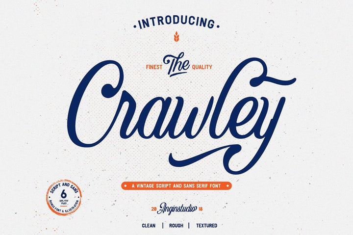 Free Font: The Crawley