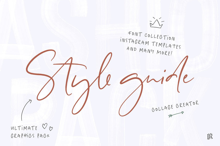 Style guide Font Collection