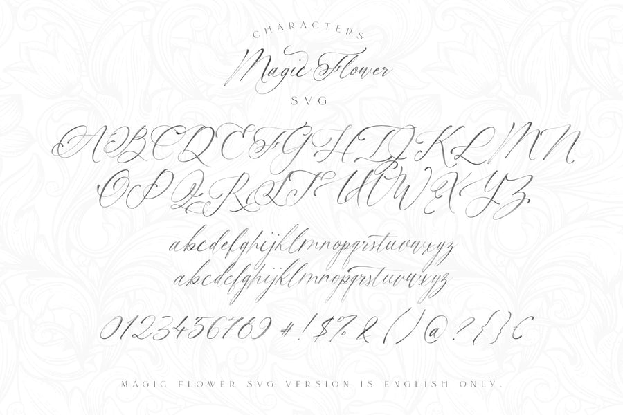 Magic Flower SVG Font