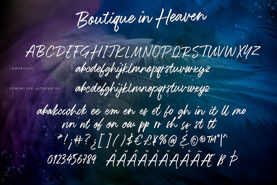 Boutique in Heaven Font DEMO