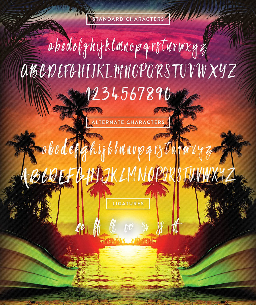 Bahamas Brush Font DEMO