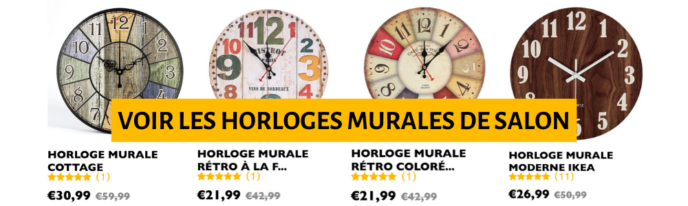 horloges murales de salon