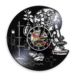 horloge vinyle science