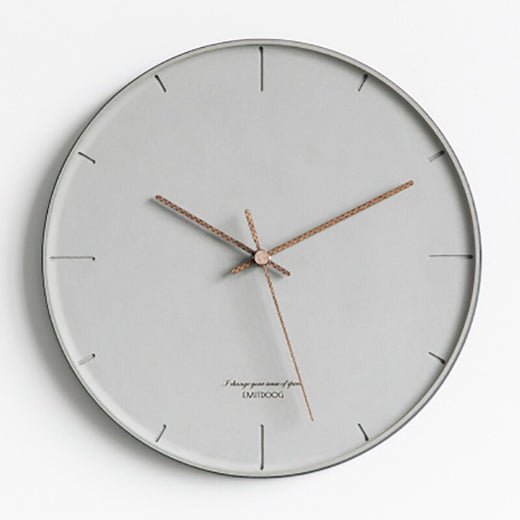 Horloge Industrielle Gris Minimum