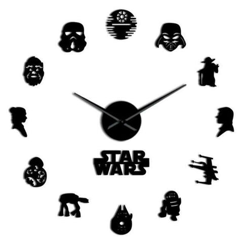 Horloge Murale Stickers Star Wars