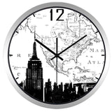 Horloge Murale New York Empire State Grise