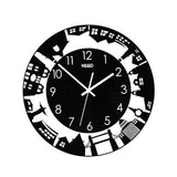 Horloge Murale Design Chrome