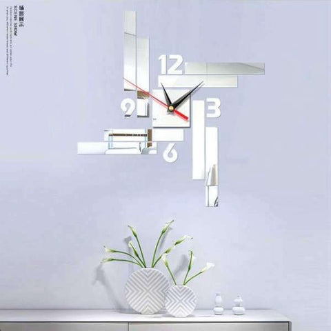 Horloge Murale Stickers Rectangle | Mon Horloge Murale