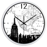 Horloge Murale New York Carte Blanche