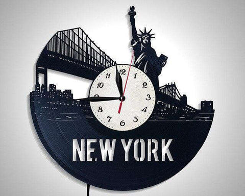 Horloge Murale New York Liberty City LED