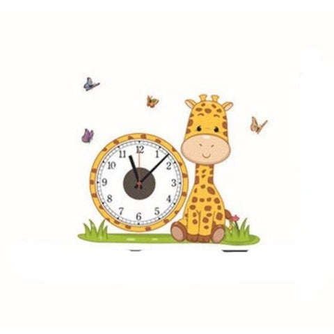 Horloge enfant girafe stickers
