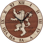 Horloge Bois Games Of Thrones | Mon Horloge Murale