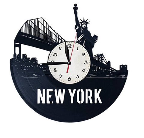 Horloge Murale New York Liberty City | Mon Horloge Murale