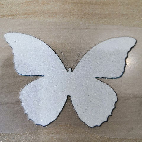 reverse side of butterfly patches