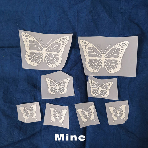 reflective butterfly for shoes decal
