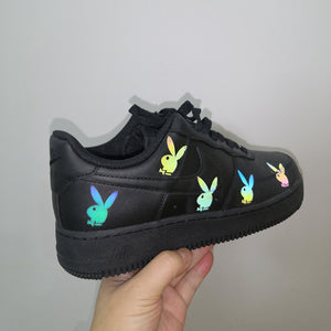 colorful reflective custom air force i bunny