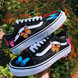 Blue Pink and Monarch Butterfly Mix For Custom Air Force 1, Perfect Set For Custom Sneakers/Vans/AF1 Butterfly Theme, Best Butterfly Gift