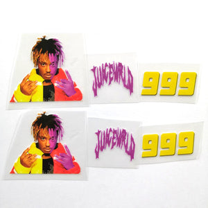 Yellow and Purple Juice Wrld Iron On Patches For Custom Air Force 1, Perfect Juice Wrld Patche For Shoes Decal
