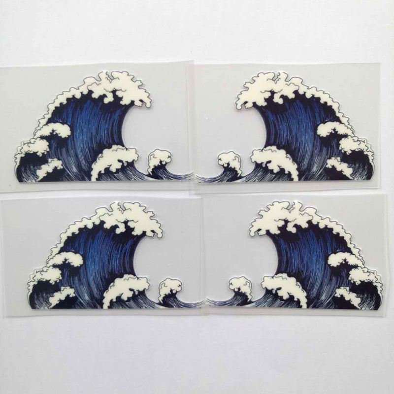 Kanagawa Wave Patches for Custom Air Force 1 or Vans