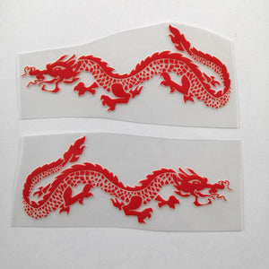 red dragon patches for custom shoes