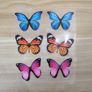 Heat transfer butterfly stickers