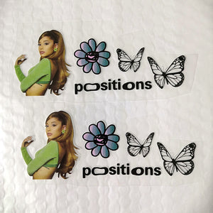 Ariana Grande positions stickers