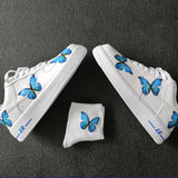 Custom Air Force 1 Low Blue Butterfly Air Force One