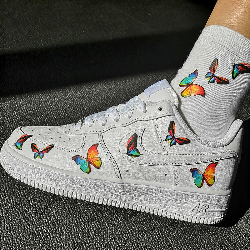 custom air force 1 butterfly