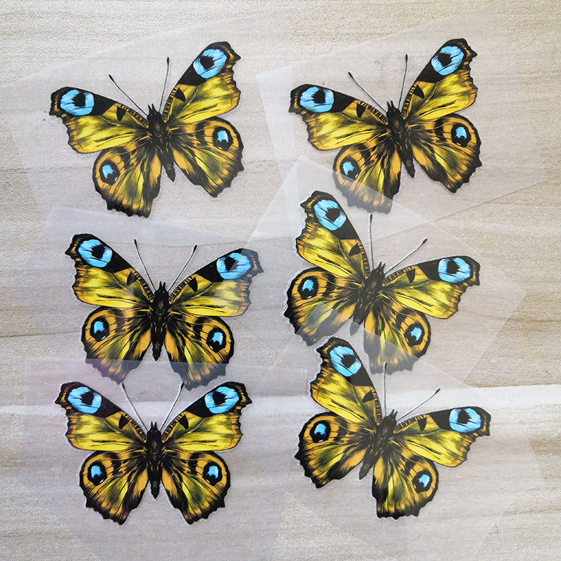 Unique Golden Butterfly Stickers For DIY or Custom Vans or Sneakers