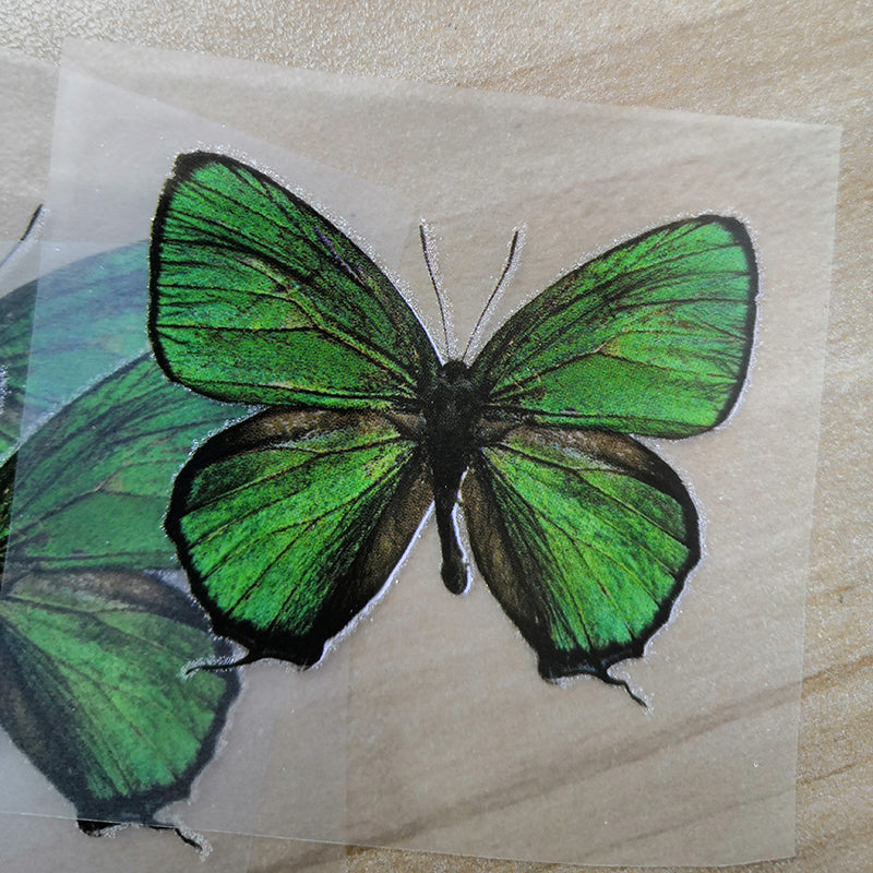 Green Butterfly Stickers For DIY or Custom Air Force 1/Vans or Sneakers
