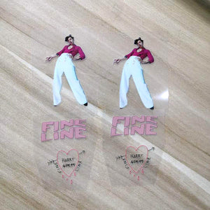 Harry Styles Fine Line Iron On Patches For Custom Air Force 1, Fine Line Drip Heat Patches For Custom Sneakers/Vans/AF1 Harry Styles Theme, Best Gift For Her