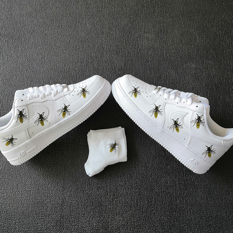Easy Iron On Bees Patches Perfect Size For Custom Air Force 1