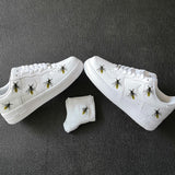 Easy Iron On Bees Patches, Perfect Size For Custom Air Force 1 Vans or Other Sneakers Perfect Gift for Her